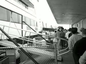 boarding the whisky cruise