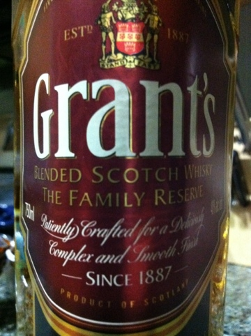 Grant's Family Reserve Blended Scotch Whisky - my thoughts