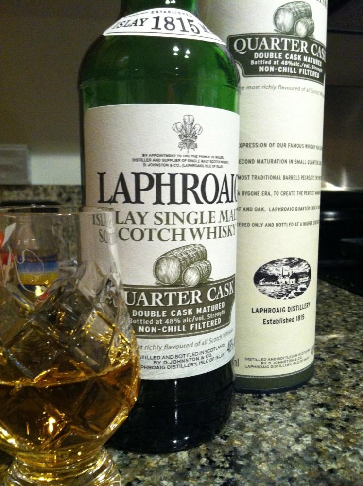 Laphroaig Islay Single Malt Scotch Whisky Quarter Cask