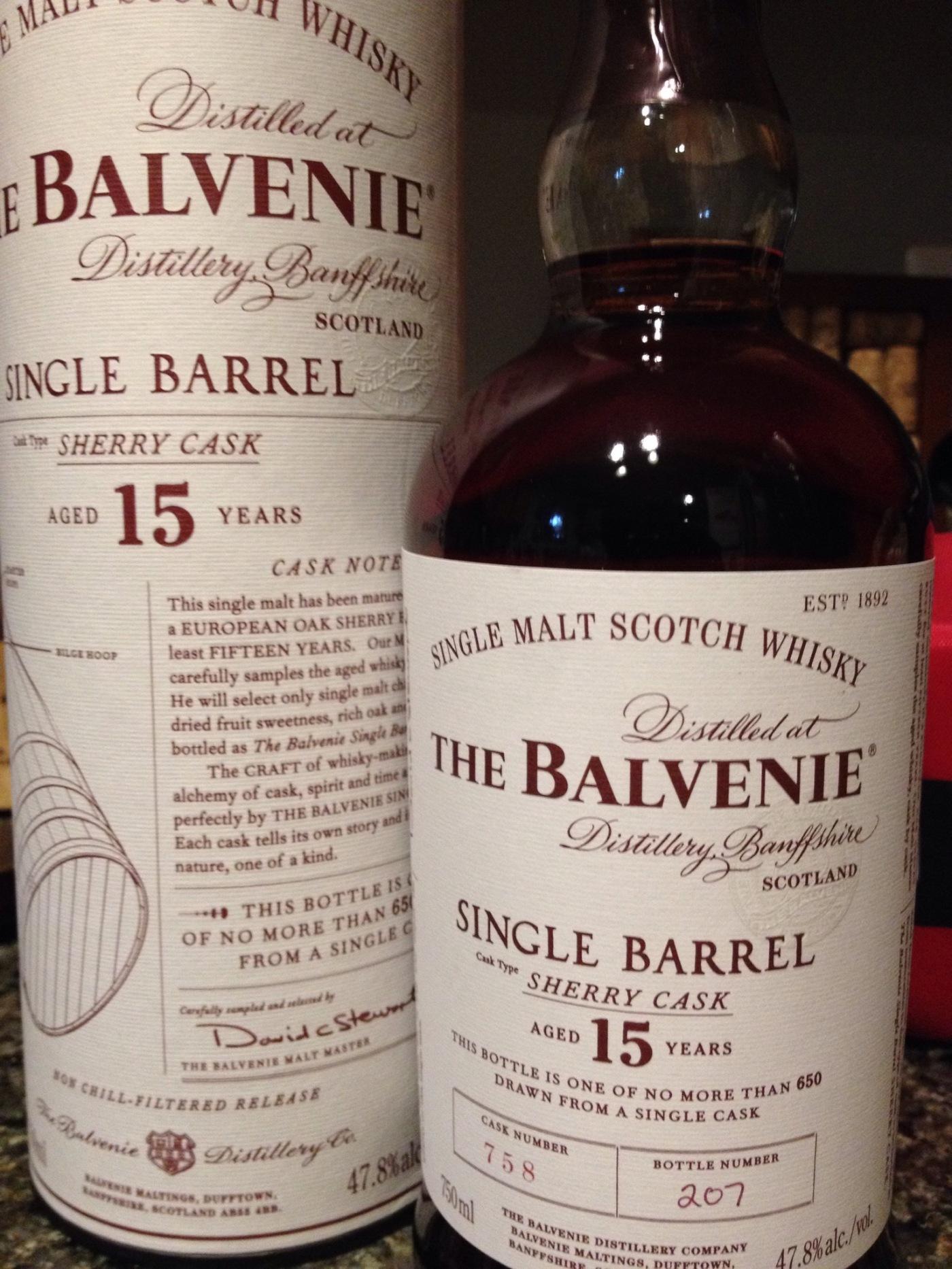 Balvenie 15 year Sherry Cask